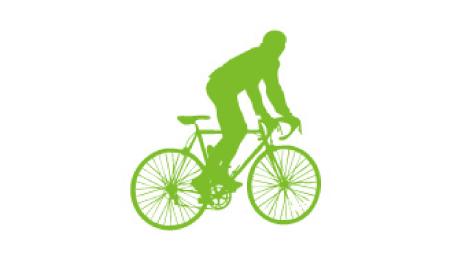近くへの移動は自転車で